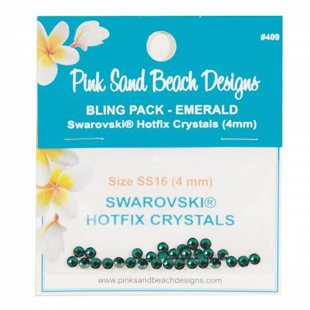 Bling Pack - Swarovski Hotfixt Crystal 4mm - Emerald