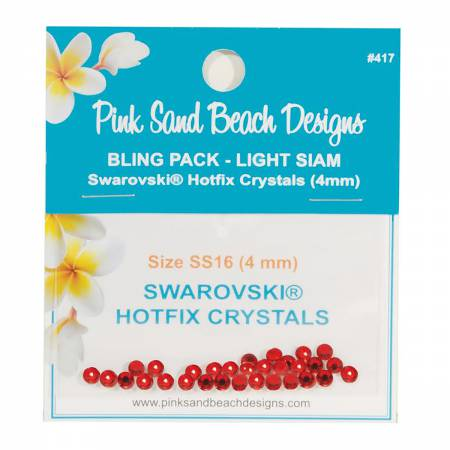 Bling Pack - Swarovski Hotfix Crystal 4mm - Light Siam