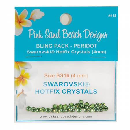 Bling Pack - Swarovski Hotfix Crystal 4mm - Peridot