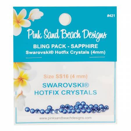 Bling Pack - Swarovski Hotfix Crystal 4mm - Sapphire