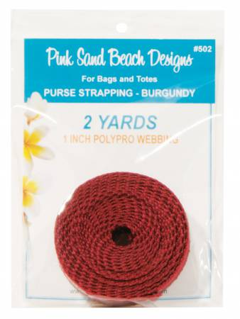 1 inch - Purse Strapping - Burgundy