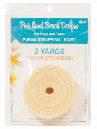 Purse Strapping 1in x 2 yds - Ivory