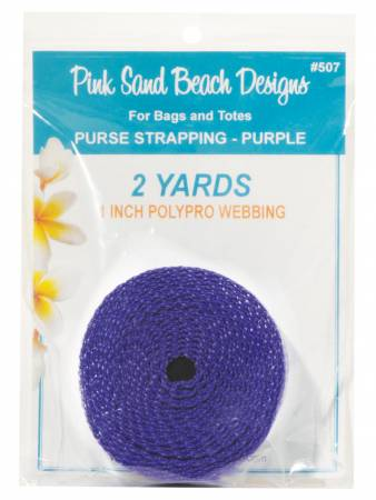 Purse Strapping 1in x 2 yds - Purple