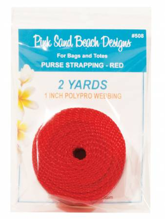 Purse Strapping 1in x 2 yds - Red
