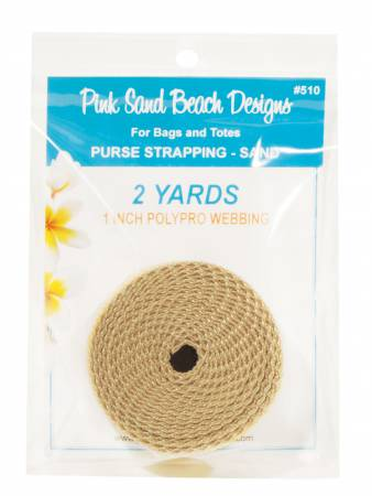 Purse Strapping, 1 x 2yd Sand, by Pink Sand Beach Designs