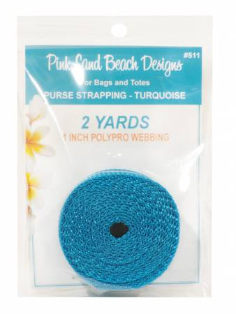 Purse Strapping 1in x 2 yds - Turquoise