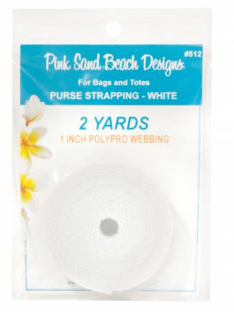 Purse Strapping - White