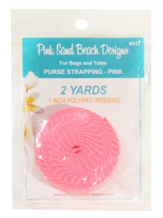 Purse Strapping, 1 x 2yd Pink, by Pink Sand Beach Designs