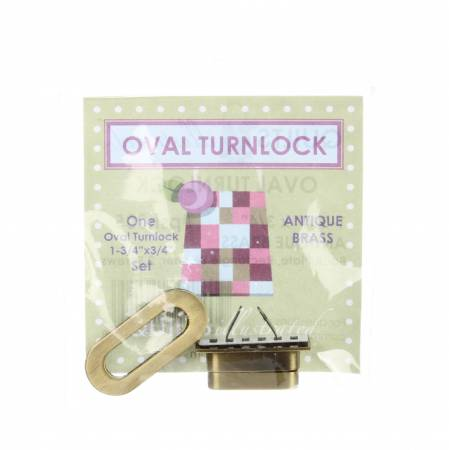 Oval Turnlock Antique Brass