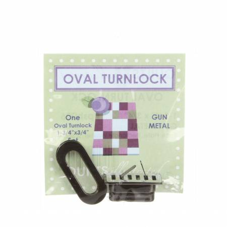 Oval Turnlock-Shiny Gun Metal