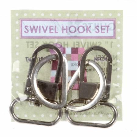 1in Swivel Hook Set Nickel