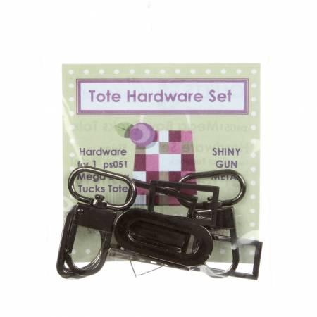Tote Hardware Set-Shiny Gun Metal