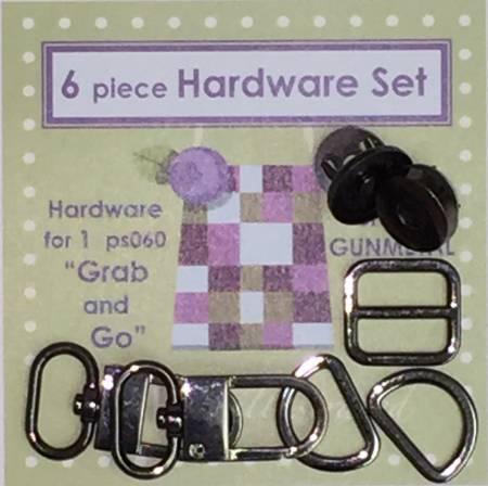 6 piece 3/4in Hardware Set Gunmetal