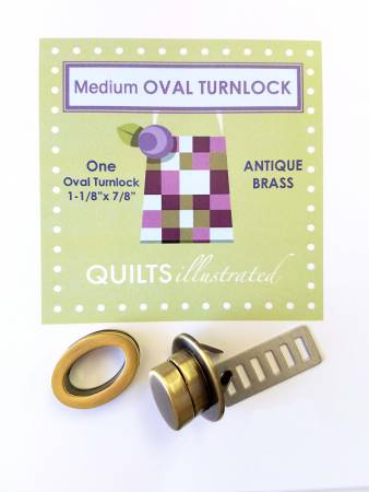 Antique Brass Medium Oval Turnlock