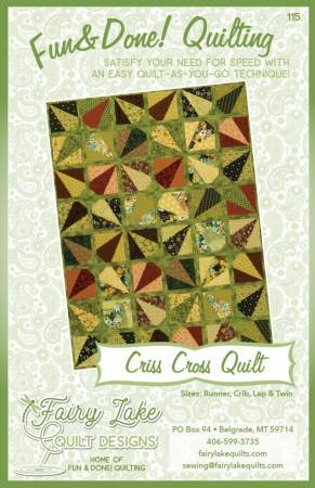 Fun and Done Criss Cross Quilt Pattern