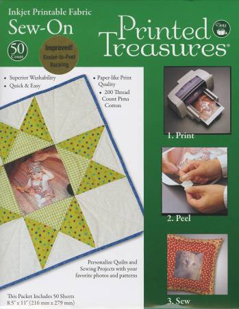 Fabric Sheets Printed Treasures sold per sheet
