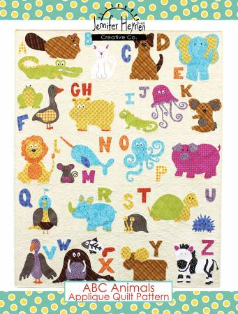 ABC Animals Applique Quilt Pattern - Jennifer Jangles