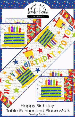 Happy Birthday Table Runner and Place Mats
