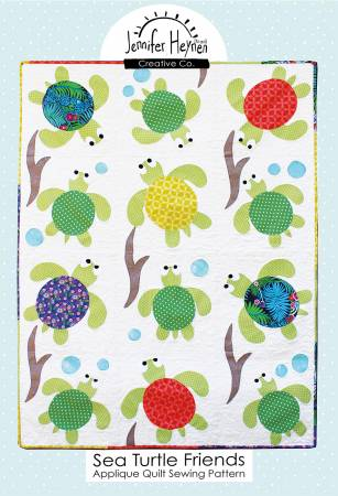 Sea Turtle Friends Applique Quilt Pattern