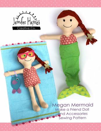 Pattern Megan Mermaid Make A Friend Doll And Accessories