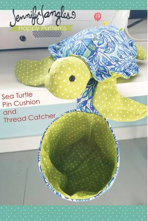 Sea Turtle Pin Cushion and Thread Catcher