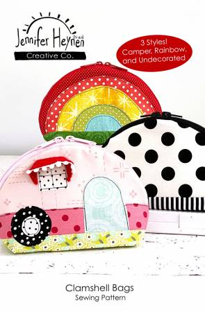 Clamshell Bags Pattern - Camper, Rainbow, and Undecorated