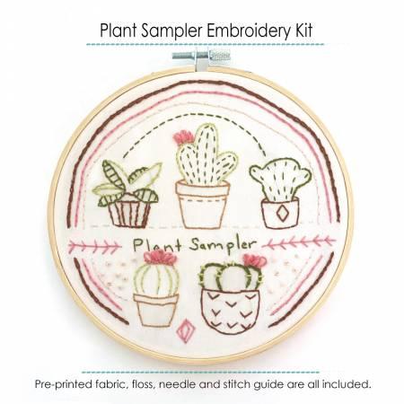 Plant Sampler Embroidery Kit