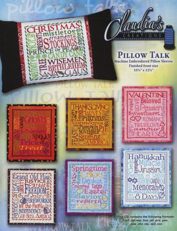Machine Embroidery Pillow Talk CD