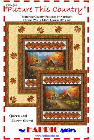 Picture This Country - Pattern - Throw 59.5x64.5/Queen 88x93