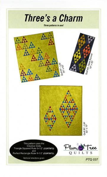 Three's A Charm Quilt Pattern by Plum Tree Quilts