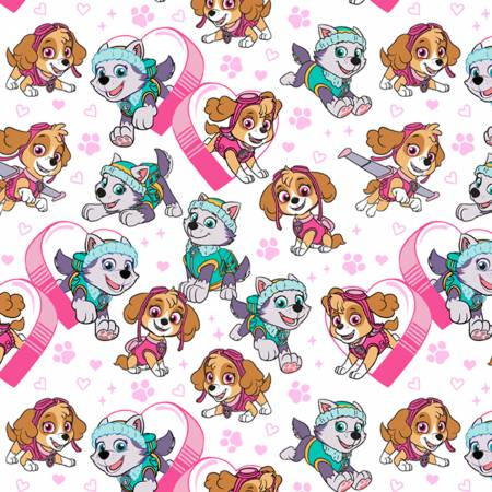 White Paw Patrol Pawfect Friends on Flannel