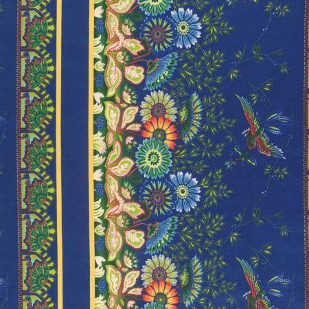 April Cornell - Gypsy Dance - Border Print PWAC023.BLUEX