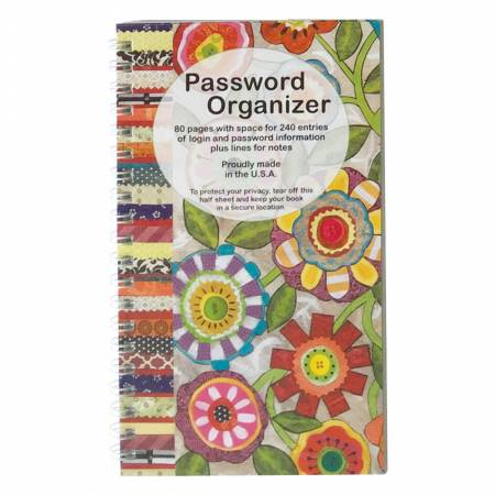 Password Book Fun Flowers