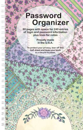 Password Organizer Book - Crazy Quilt