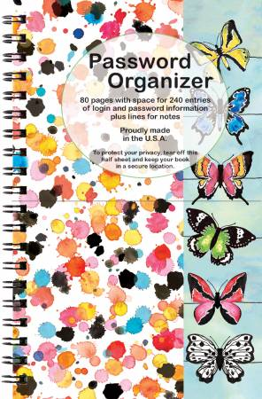 Password Organizer Butterfly