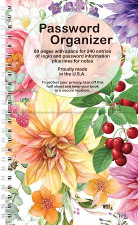Password Book - Bright Floral