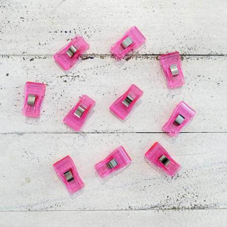 Large Quilting Clips 10 pack pink