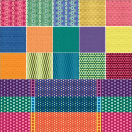 2-1/2in Strips Dot Crazy 40pcs/bundle