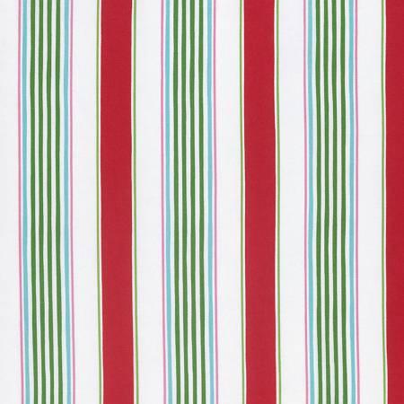 Christmas Fabric Sale-Red Linen Stripe PWDF235.OREDX