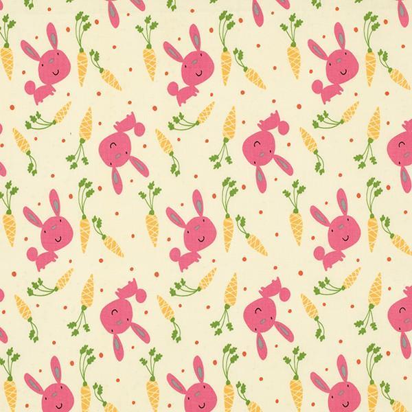 Garden PWDW080 Pink Bunny & Carrots