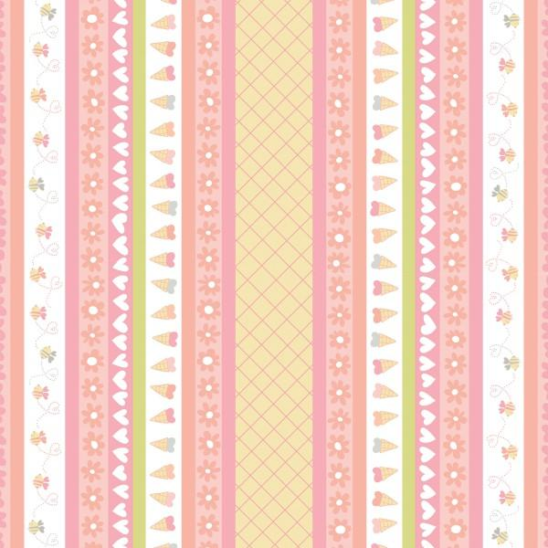 Item#9187 - Posie Sweetheart Stripe - Free Spirit - David Walker - Bolt#9187