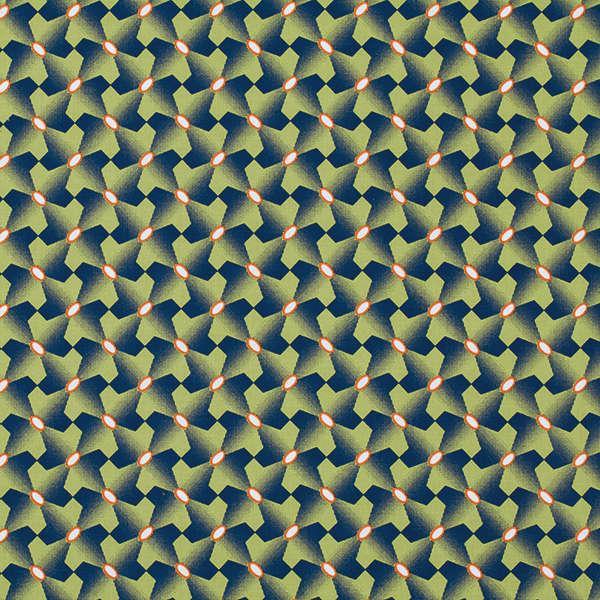Asparagus Houndstooth