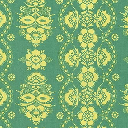 Citrus Floral Lace Stripe - PWJP114.CITRI
