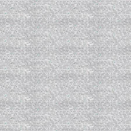 Gray Words Digitally Printed