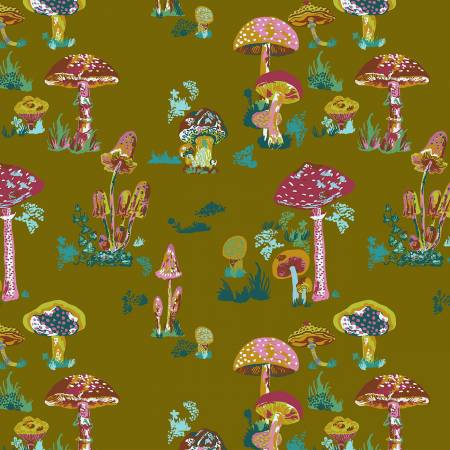 Anna Maria Horner - Souvenir - Beautiful Mushrooms - Army