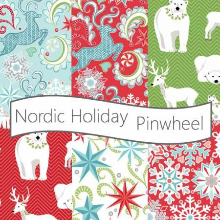 2-1/2in Strips Nordic Holiday 40pcs/bundle