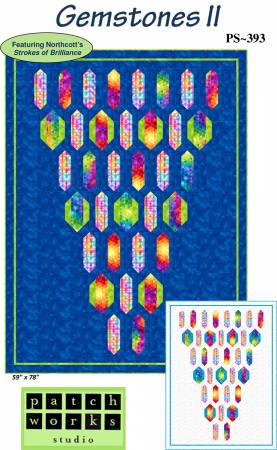 Gemstones II Blue Quilt Top Kit - 59x79