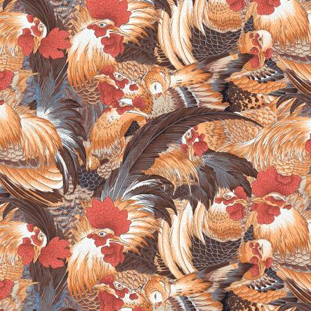 Free Spirit Neddy's Meadow Roosters - Natural PWSL080.NATURAL