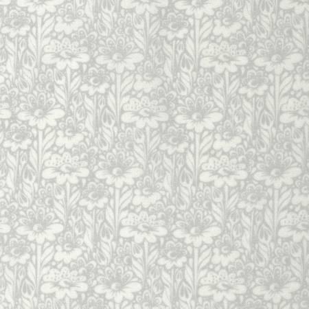 Free Spirit Tula Pink Daisy Buds Silver Cotton Fabric