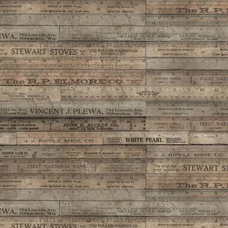 Tim Holtz Foundations - Brown Rulers
